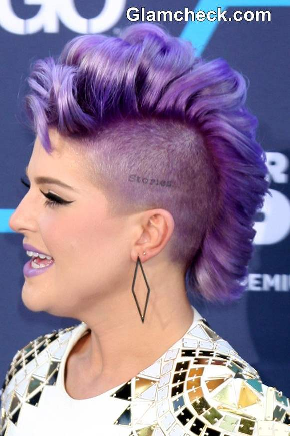 Kelly Osbourne Bright Lilac Mohawk At Young Hollywood