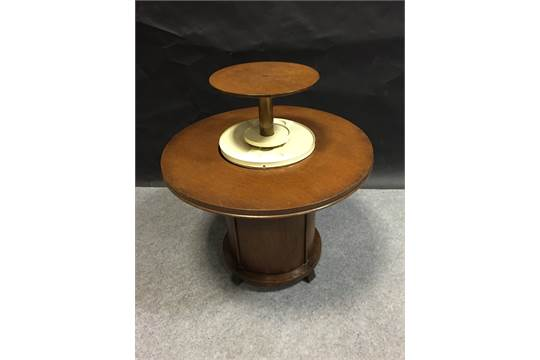 an art deco oak cocktail table with