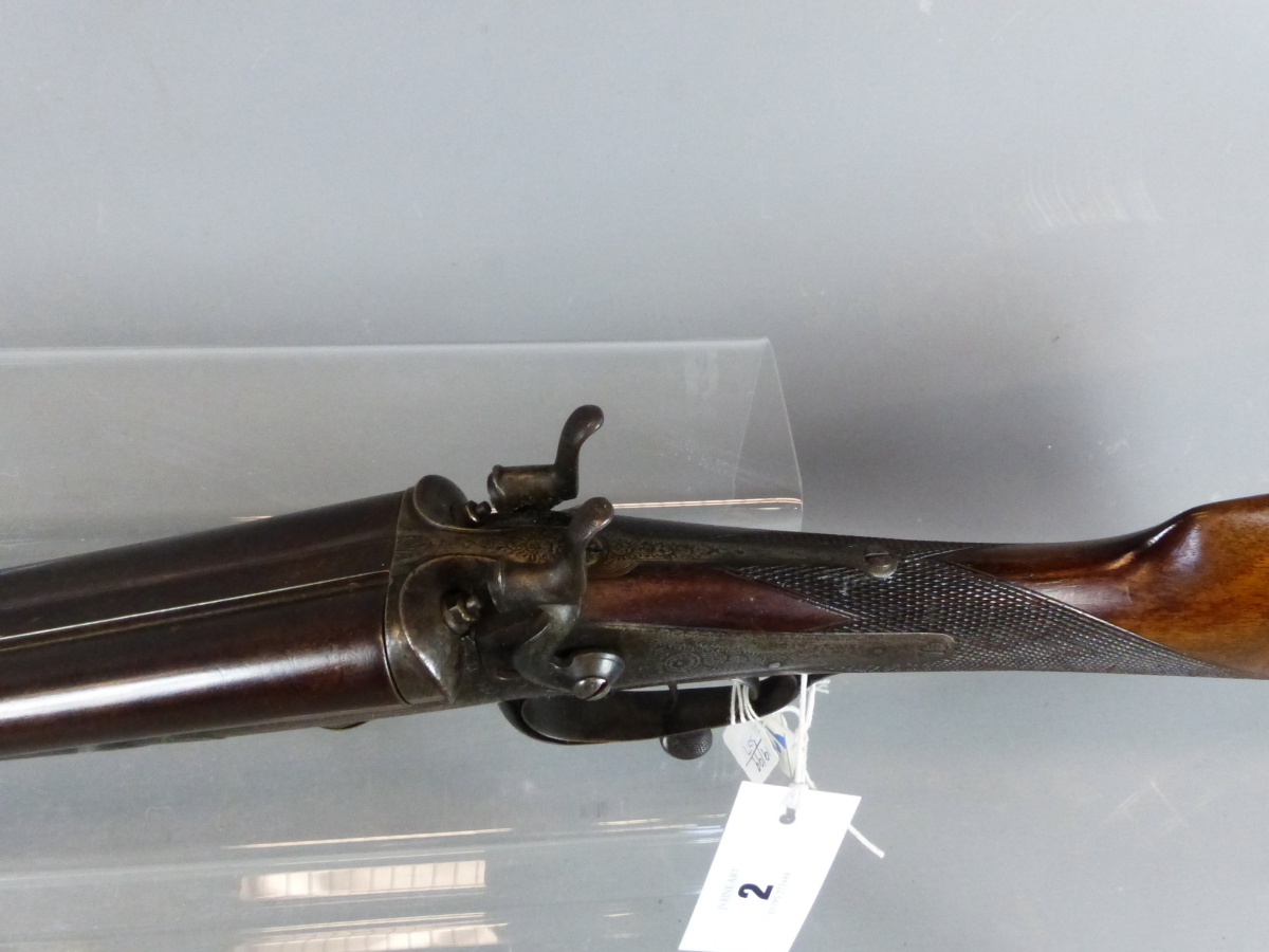 Shotgun T Bland Amp Sons 12g Underlever Hammer Gun Stock And Action Only Fac Required For Barre