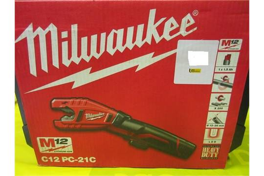 Lot 81 - Milwaukee C12 PC-21C lithium-ion 12v, pipe cutter 12mm - 28mm