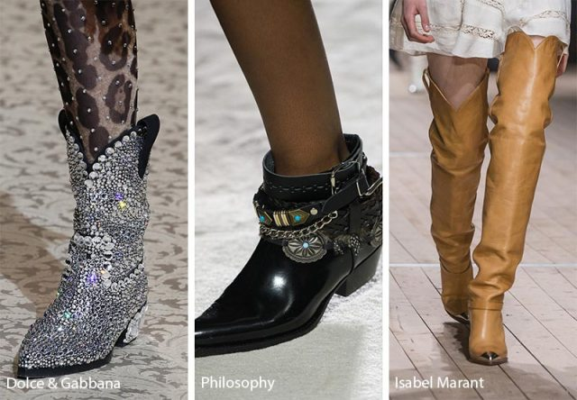 Fall/ Winter 2018-2019 Shoe Trends: Cowboy Boots
