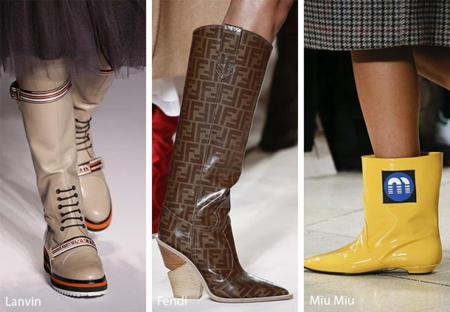 Fall/ Winter 2018-2019 Shoe Trends: Logo Printed Shoes & Boots