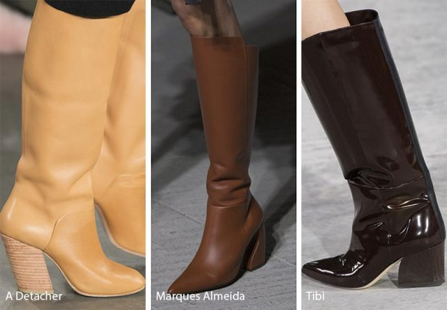 Fall/ Winter 2018-2019 Shoe Trends: Shoes & Boots with Angled Heels