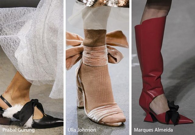Fall/ Winter 2018-2019 Shoe Trends: Shoes & Boots with Bows