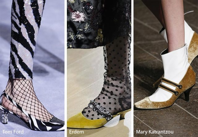 Fall/ Winter 2018-2019 Shoe Trends: Shoes & Boots with Kitten Heels