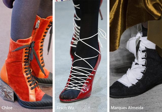 Fall/ Winter 2018-2019 Shoe Trends: Shoes & Boots with Laces and Straps