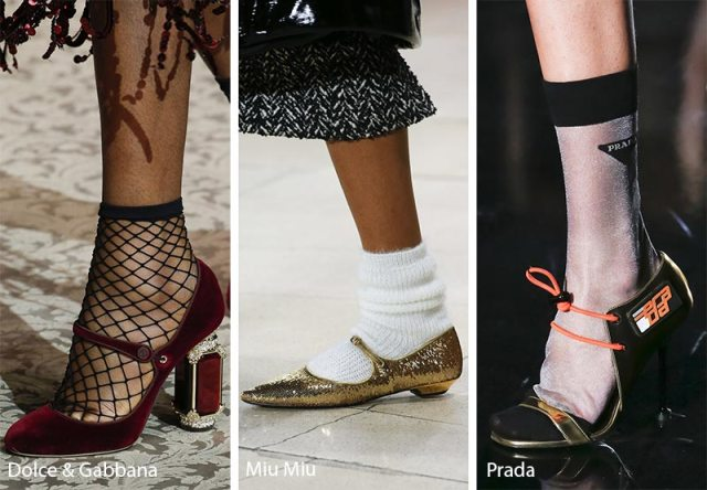 Fall/ Winter 2018-2019 Shoe Trends: Shoes with Socks