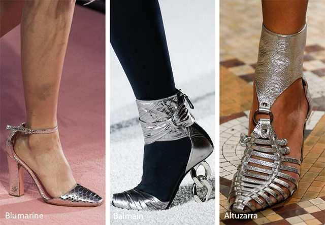 Fall/ Winter 2018-2019 Shoe Trends: Silver Shoes & Boots