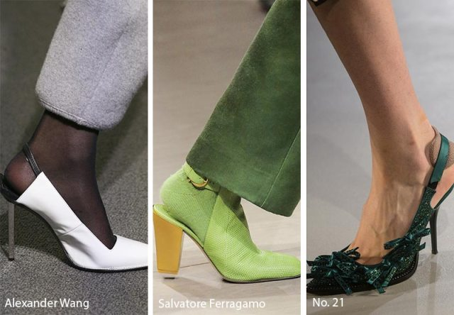 Fall/ Winter 2018-2019 Shoe Trends: Slingback Shoes