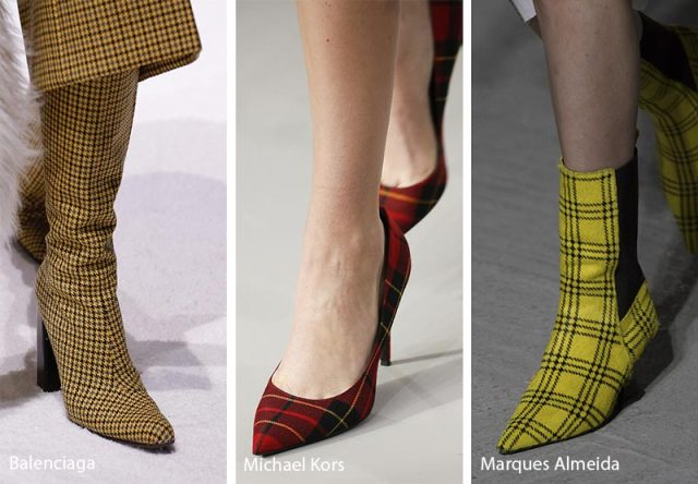 Fall/ Winter 2018-2019 Shoe Trends: Plaid Shoes & Boots