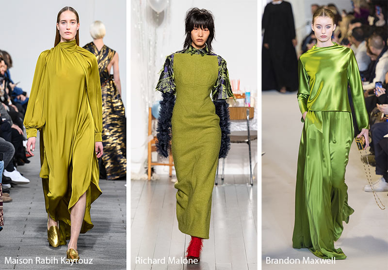 Fall/ Winter 2019-2020 Color Trends: Green Olive