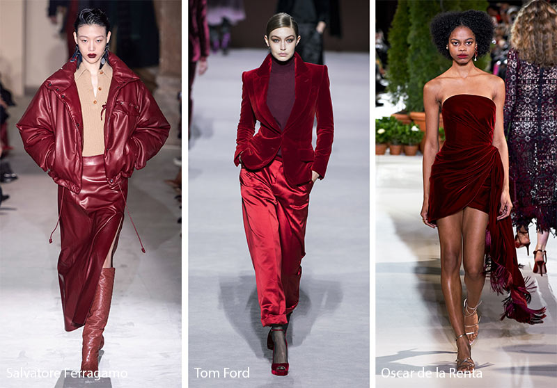 Fall/ Winter 2019-2020 Color Trends: Merlot Wine Red