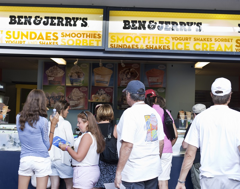 ben and jerry's pay