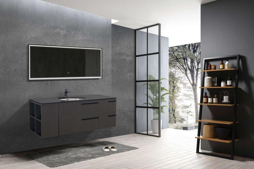 opal t 60po vanite de salle de bain comptoir quartz gris fonce eviers en porcelaine fabriques par toto promo tax in jusqu a epuisement