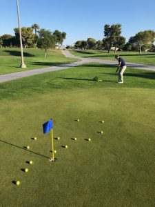 golf warm up chipping