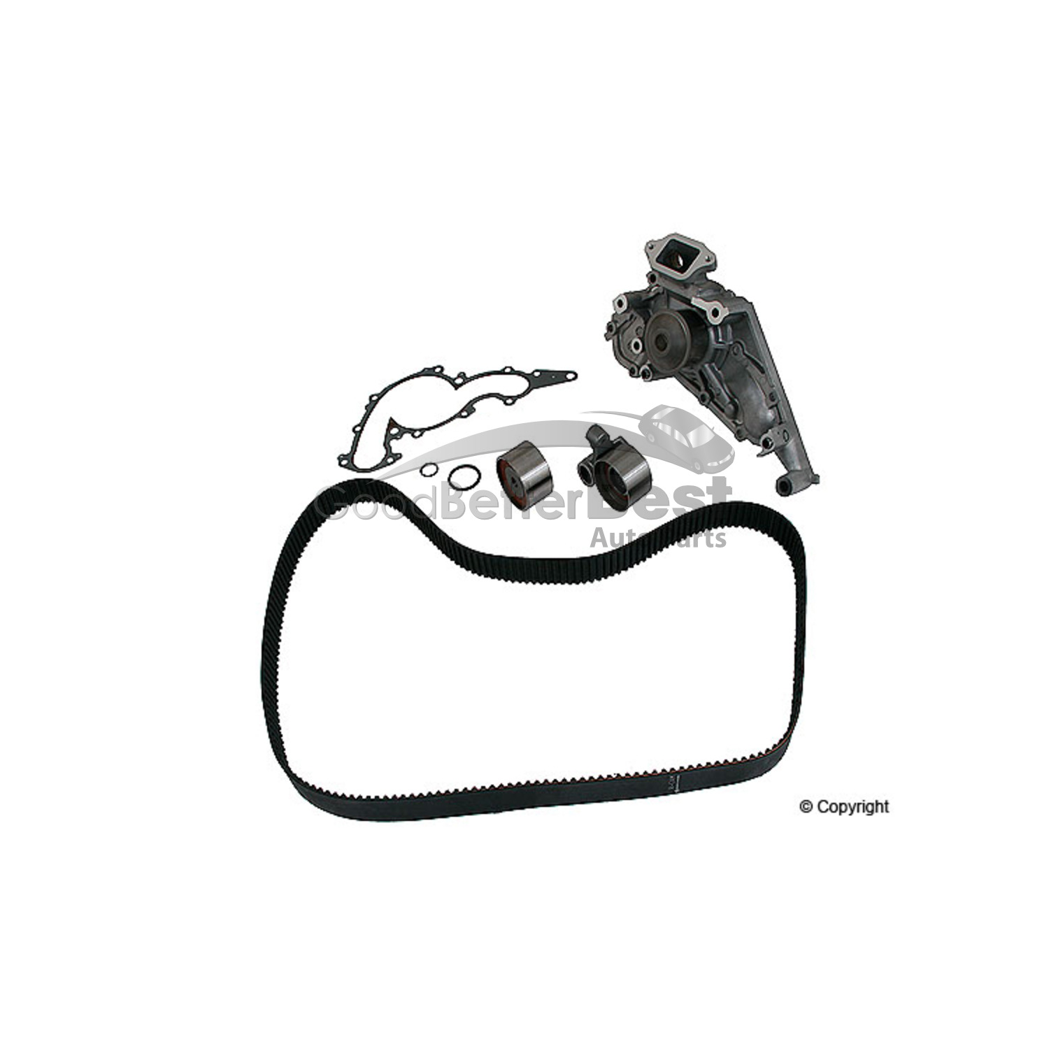 One New Aisin Engine Timing Belt Kit With Water Pump