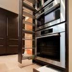 Modern Riverside Condo Kitchen Tall Pull Out Toe Kick Step Stool Holly Wiegmann Design 51 Studio Florida Real Estate Design Holly Wiegmann Award Winning Design Design 51 Studio