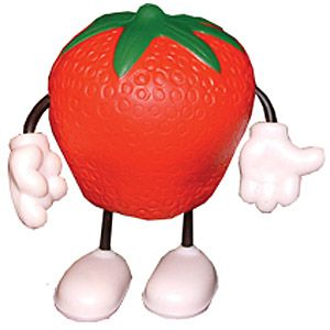 Promotional Strawberry Man Stress Toys Printed With Your