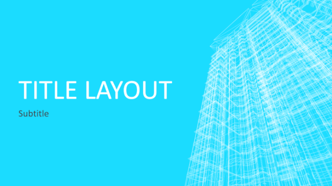 Building wireframe PowerPoint template
