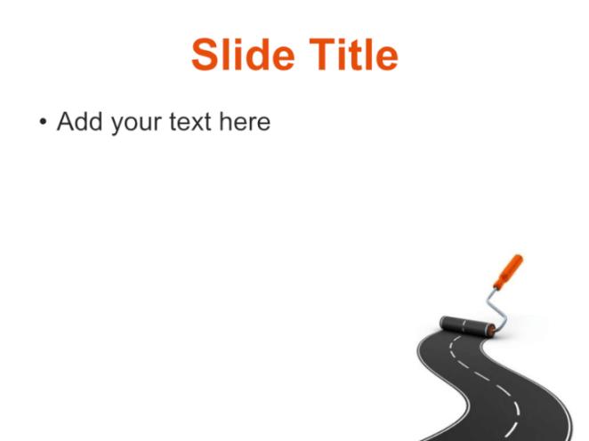 Roadwork PowerPoint template