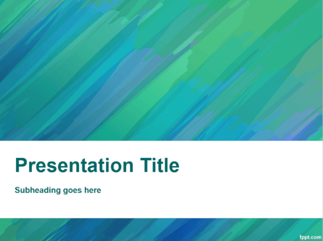 Brush strokes PowerPoint template - green
