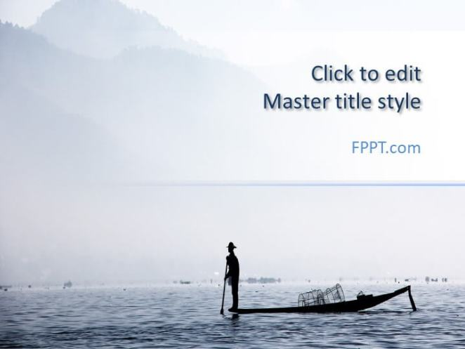 The Fisherman PowerPoint template