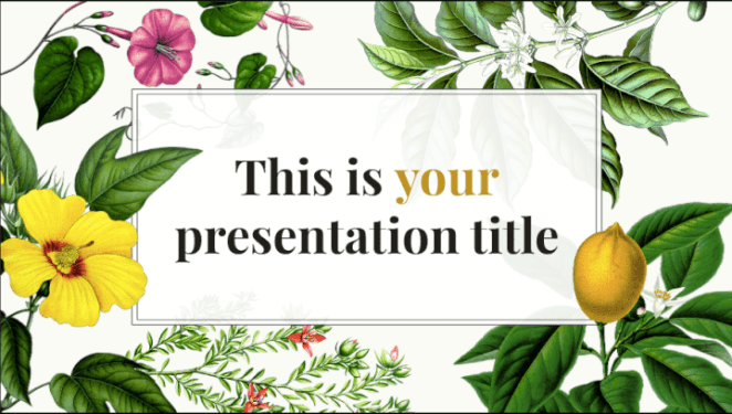 Botanical PowerPoint template