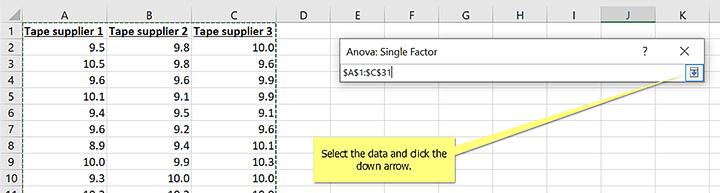 Step #5 Select data Range