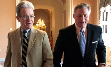 The Public-Private Employees Retirement Parity Act was introduced by Sens. Tom Coburn, R-Okla. (left); Richard Burr, R-N.C.; and Saxby Chambliss, R-Ga. (not pictured)