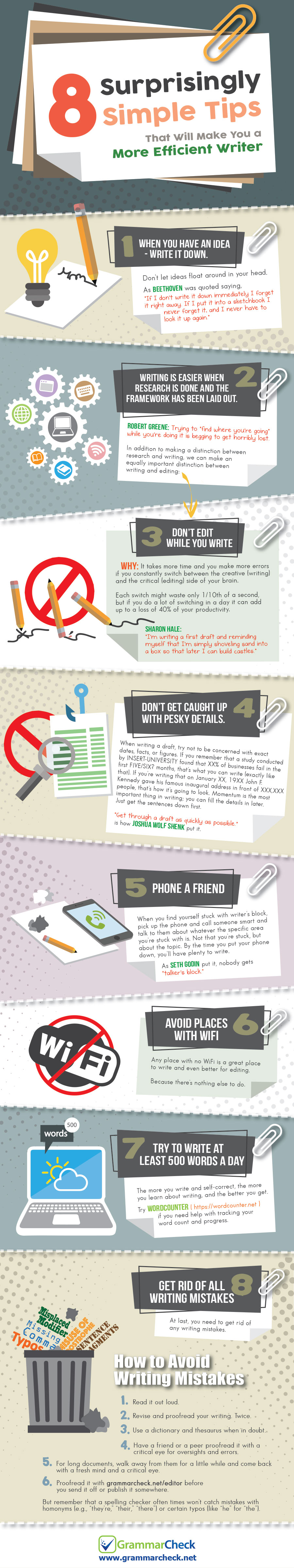 8 Surprisingly Simple Tips That Will Make You a More Efficient Writer (Infographic)