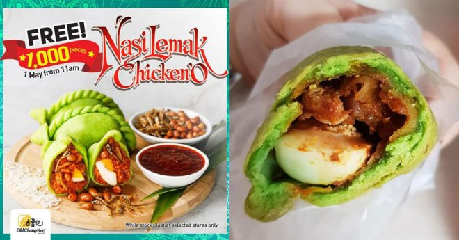 Old Chang Kee is giving away FREE Nasi Lemak Curry Puffs from 11am on Labour Day