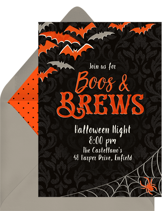 13 halloween party invitations