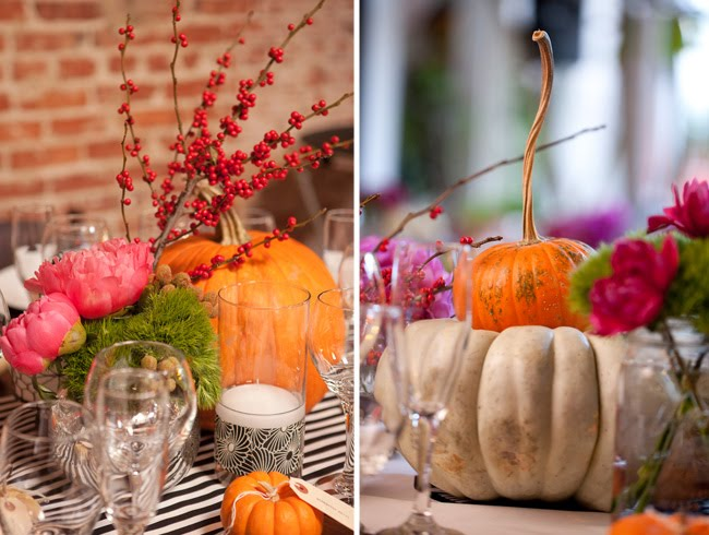 pumpkin wedding details
