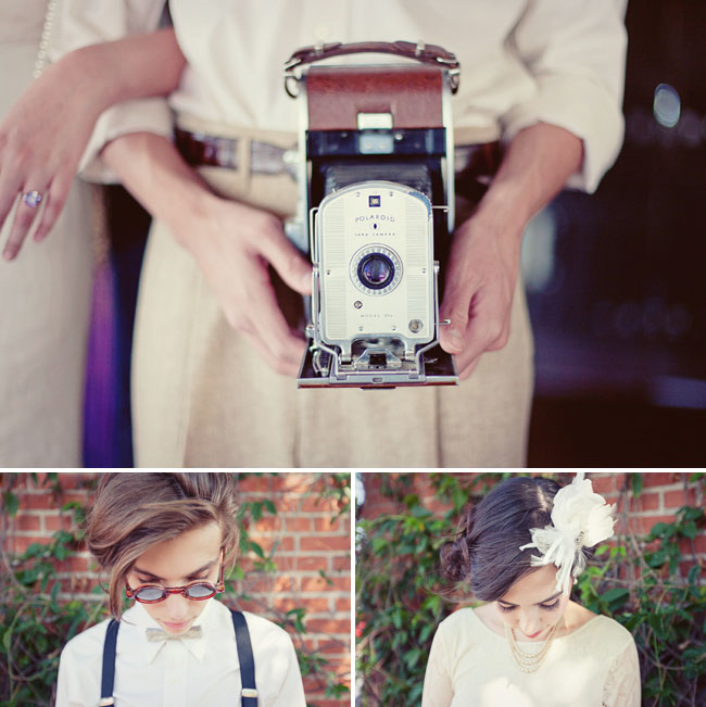 vintage polaroid camera wedding