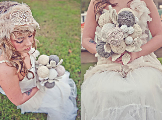 alternative bridal bouquet quirky cute whimsical wedding