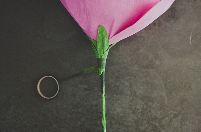 diy-gigante de papel-rosa-14