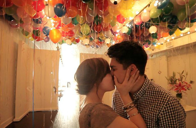 Balloon proposal, propuesta con globos, ideas con globos