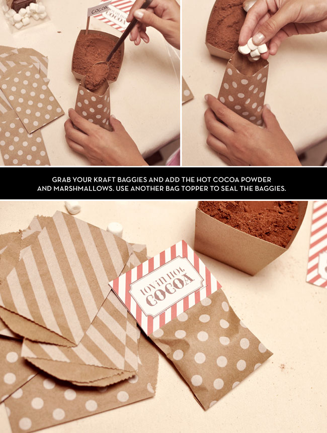 DIY Hot Cocoa Bags