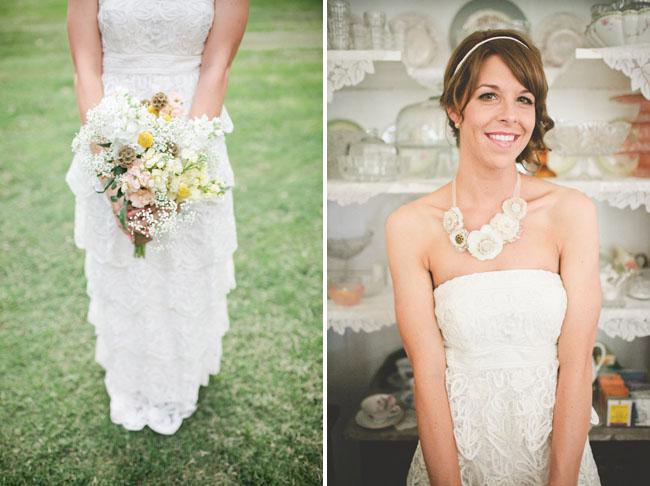 El vestido de la novia de volantes