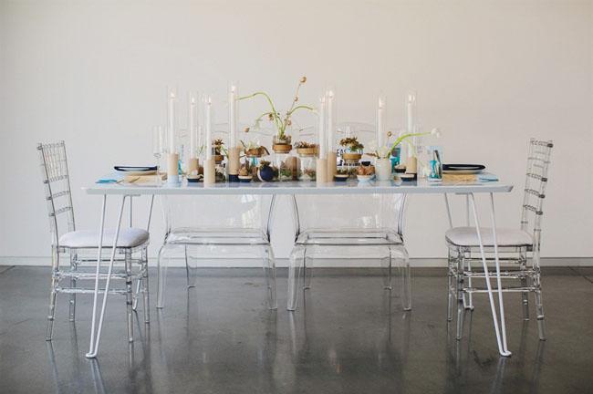 boda azul moderna