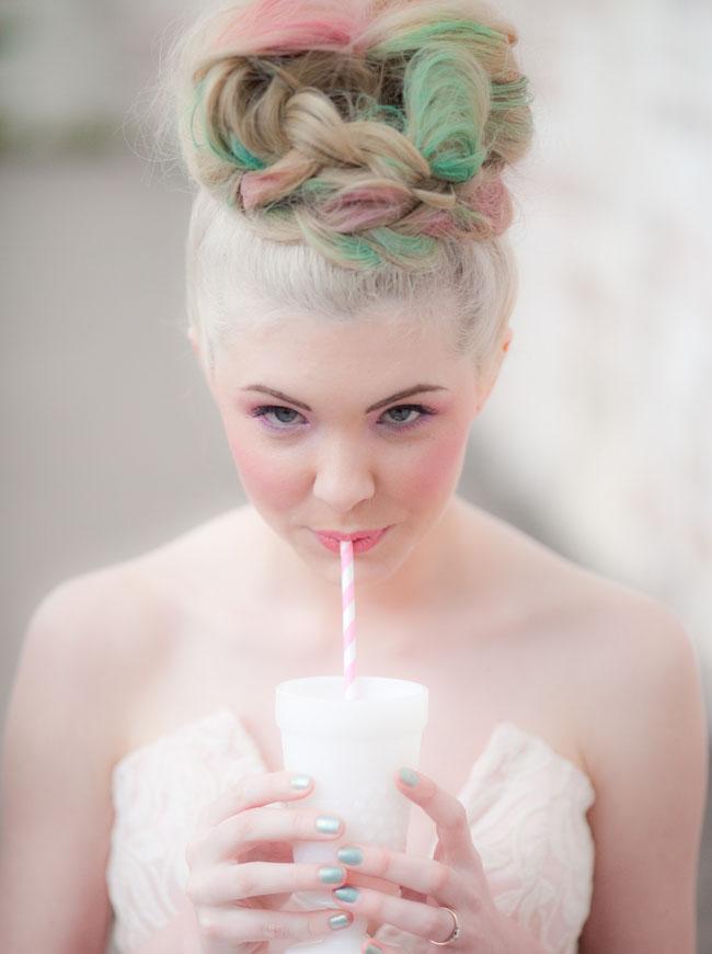tiza pelo de la novia