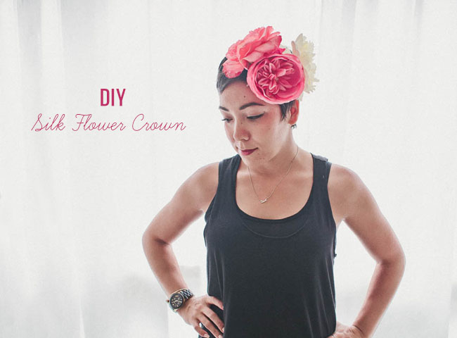 DIY Silk Flower Crown