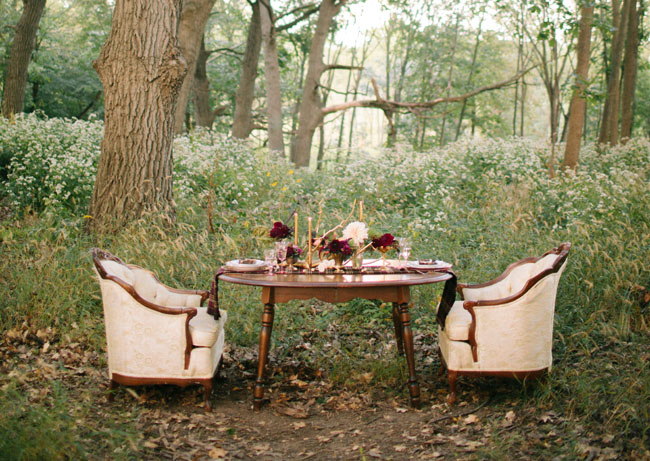 Fall Burgandy Wedding Decor