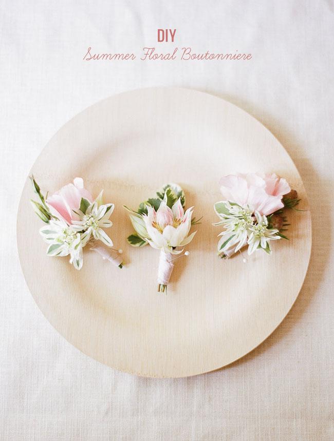 DIY summer floral boutonniere