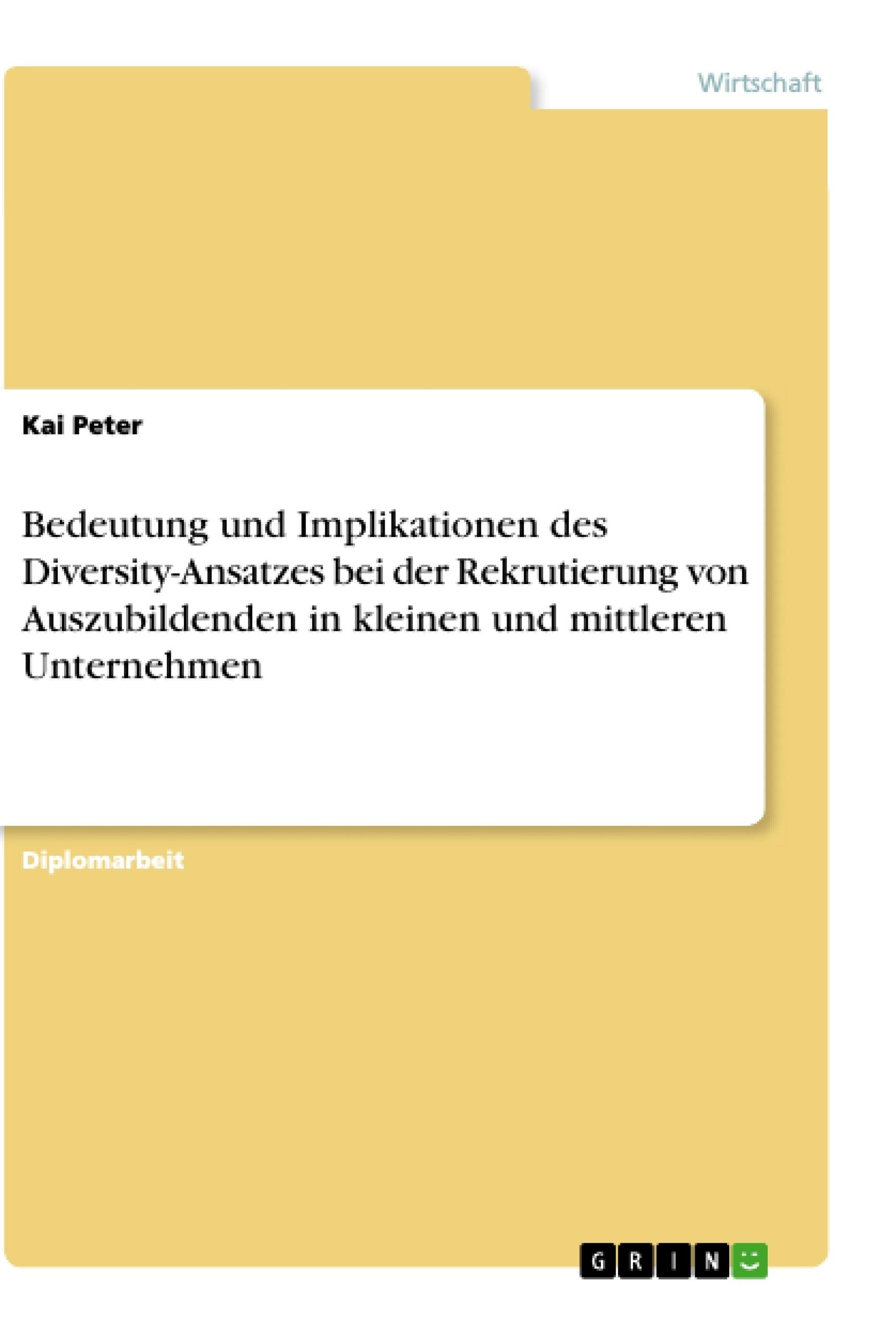 Bedeutung Und Implikationen Des Diversity Ansatzes Bei Der