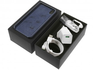 The accessories in the specially designed box