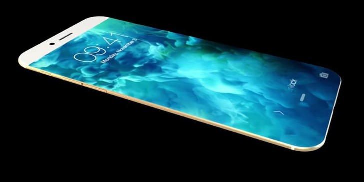 Iphone 8 sin botones físicos en el panel frontal