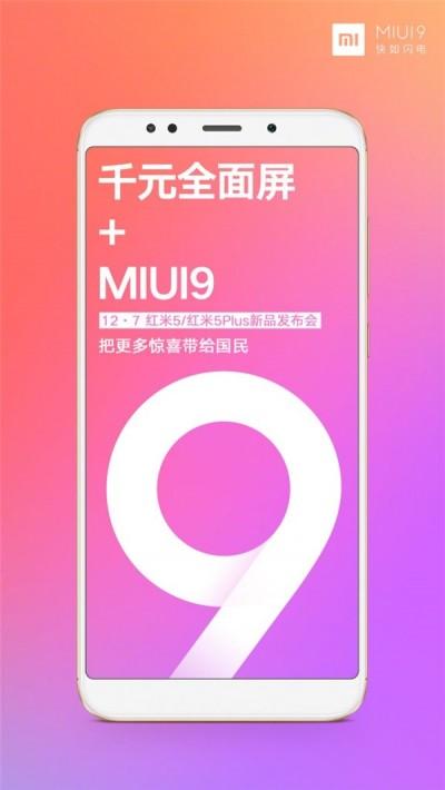 Xiaomi Redmi 5 vem com o MIUI 9 fora da caixa