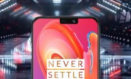 This might be the OnePlus 6 and it has a notch in the screen