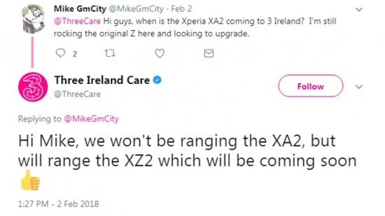 Xperia XZ2 é acidentalmente vazado por transportadora no Twitter